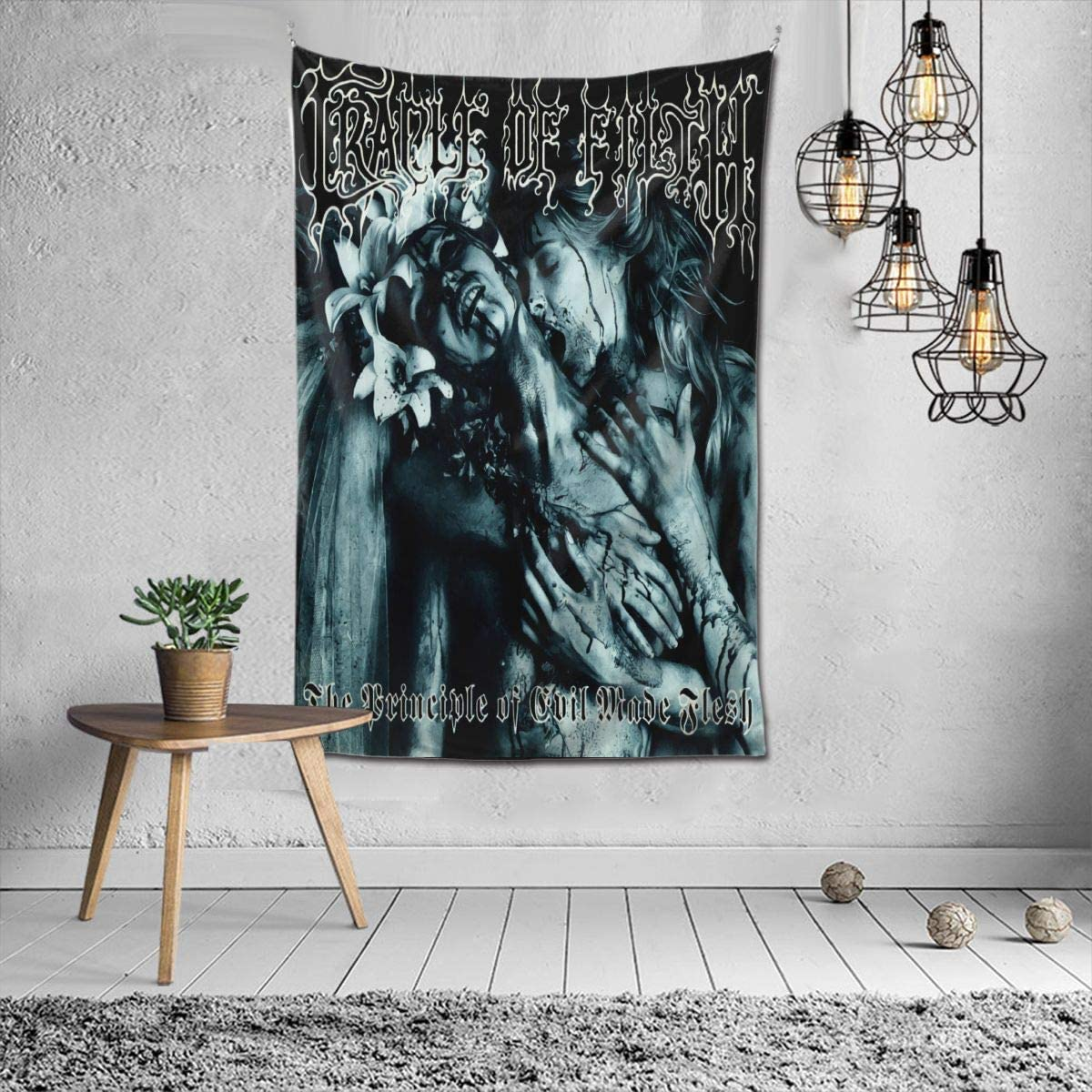 baodan Cradle of Filth Tapestry Mural Wall Hanging Home Mural Decor Blanket Art Decor for Living Room Bedroom 60 X40 Inch - -Fashion Black