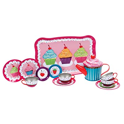 Schylling Cupcakes Tin Tea Set: Toys & Games