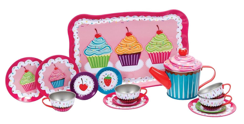 Schylling Cupcakes Tin Tea Set
