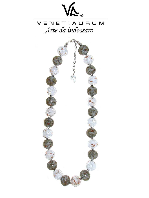 Venetiaurum Pendientes en cristal de Murano y plata 925 Made in Italy
