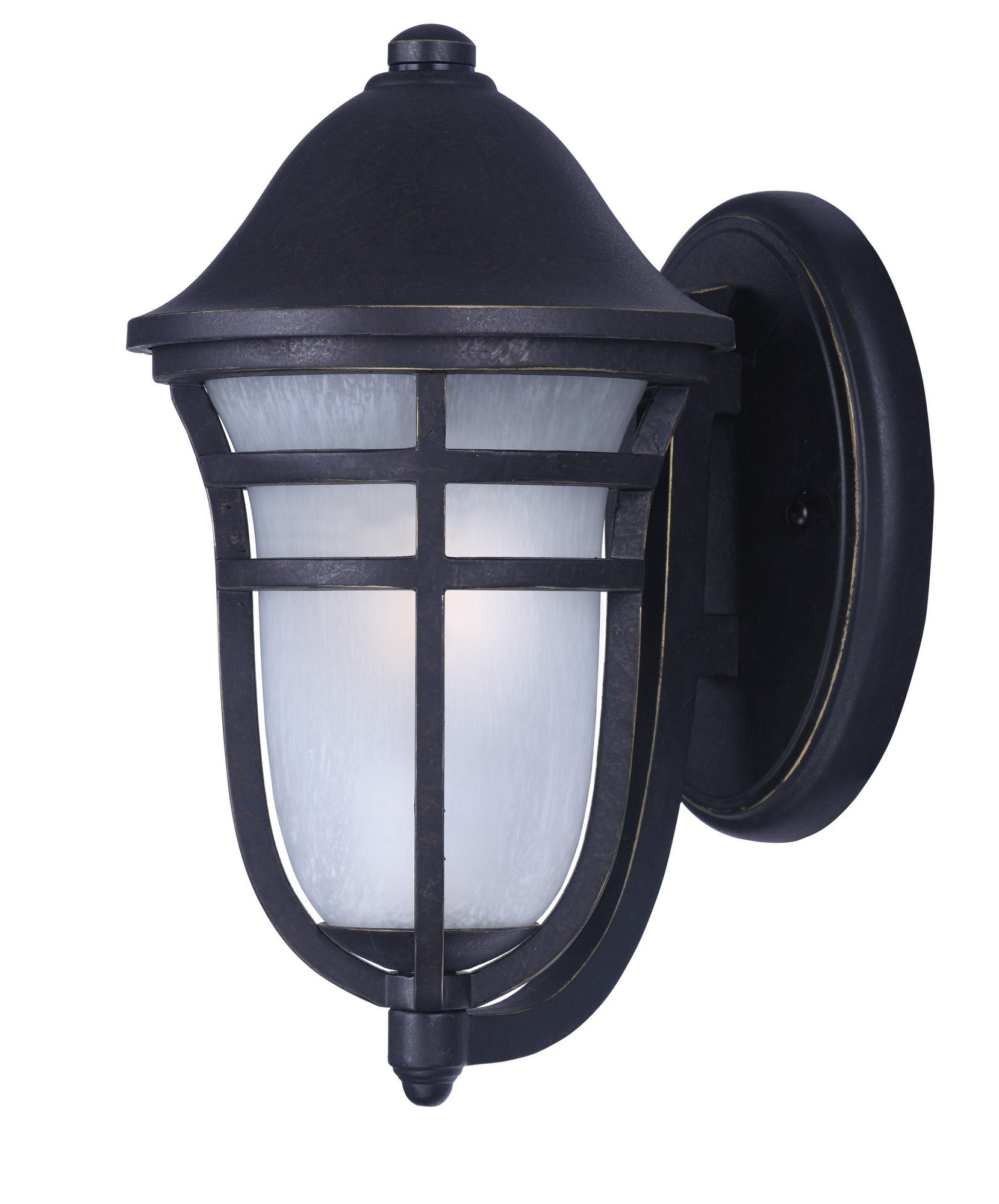 Maxim 34202WPAT Westport DC 1-Light Outdoor Wall, Artesian Bronze Finish, Wisp Glass, MB Incandescent Incandescent Bulb , 9W Max., Wet Safety Rating, 3000K Color Temp, Shade Material, 800 Rated Lumens