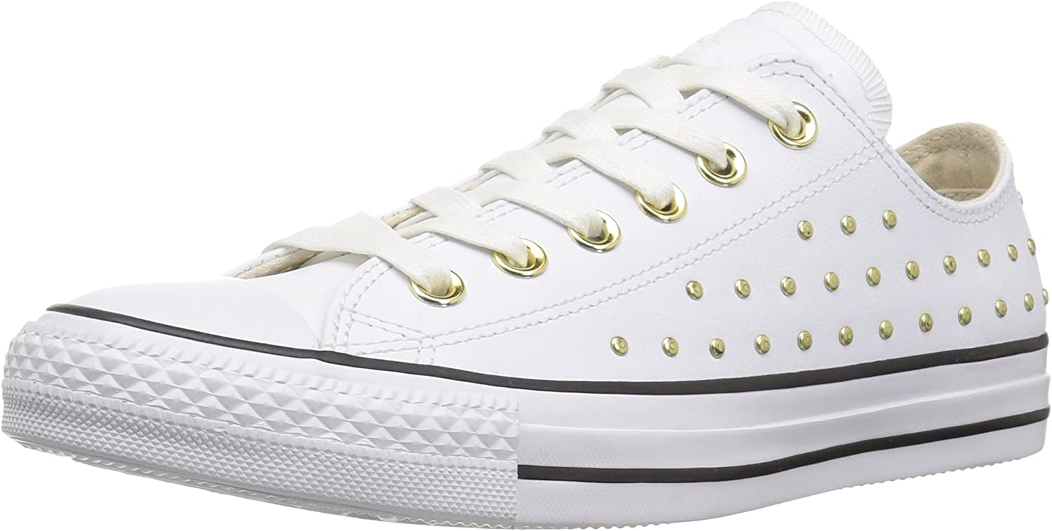 Amazon.com | Converse Women's CTAS Ox White/Gold Sneaker | Fashion