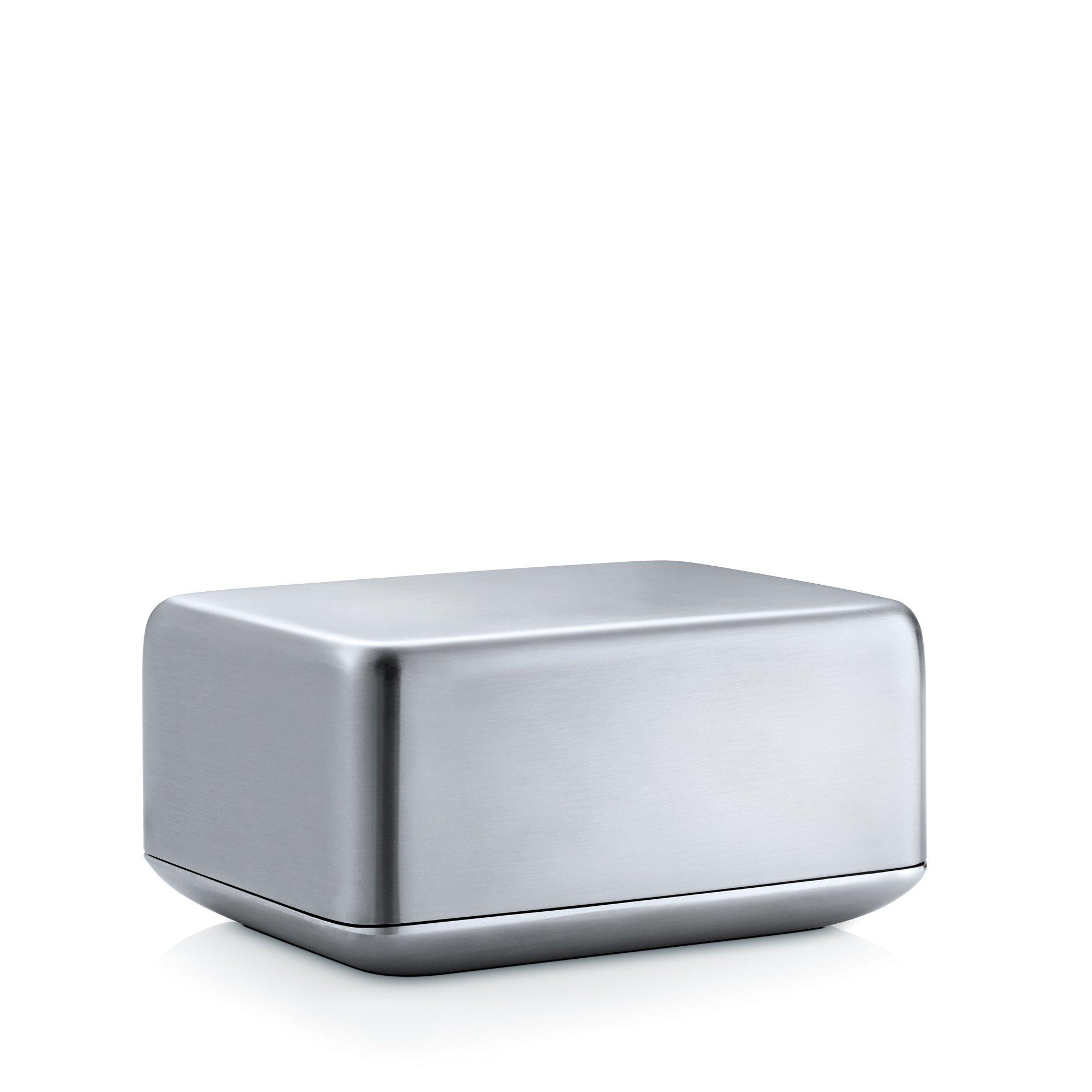 Blomus Basic Stainless Steel Butter Dish, Medium
