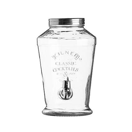 KILNER Dispensador de Bebida, Vidrio, Transparente, 6 litros