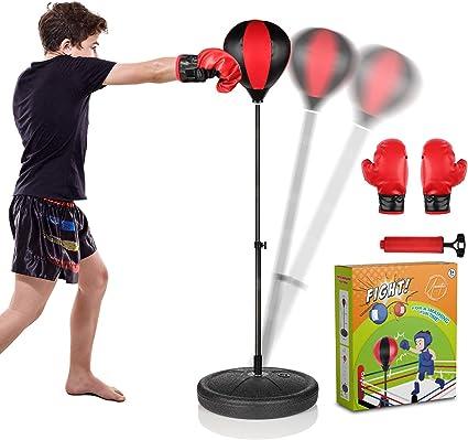 Adult Child Boxing Punch Bag Children Punching Bag Set Kids Fitness  Pack Pad