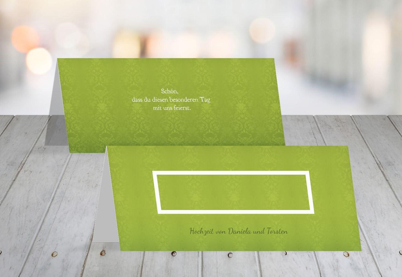Segnaposto Matrimonio Verde Mela.Matrimonio Segnaposto Matrimonio Promessa Verde Mela 60 Karten