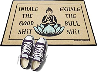 product image for Inhale The Good S!# Exhale The Bulls!# - HIGH COTTON Welcome Doormat