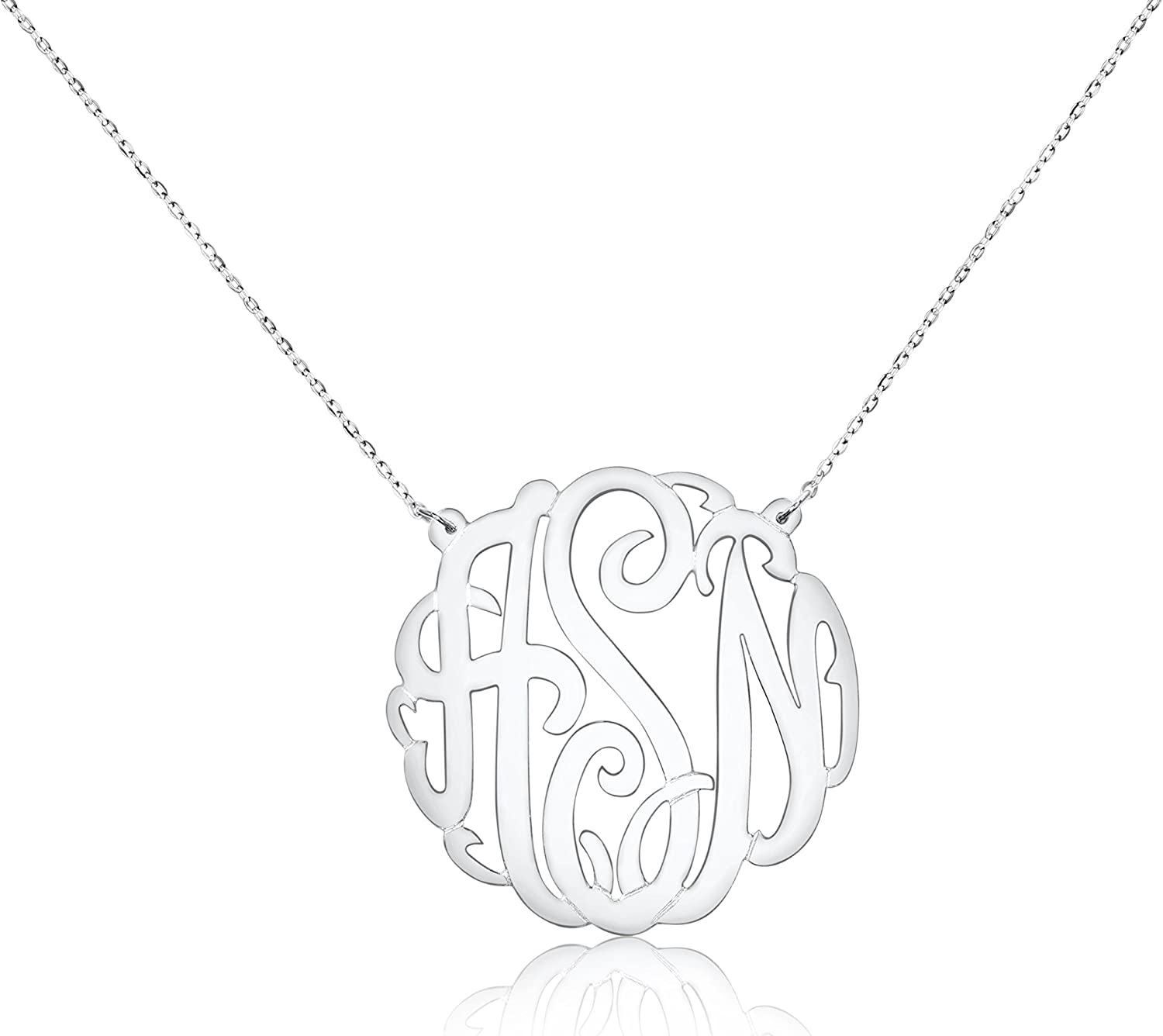 WANGXJ Crown Your Surname in Your Name Silver-Plated DIY 26 English Alphabet Female Necklace