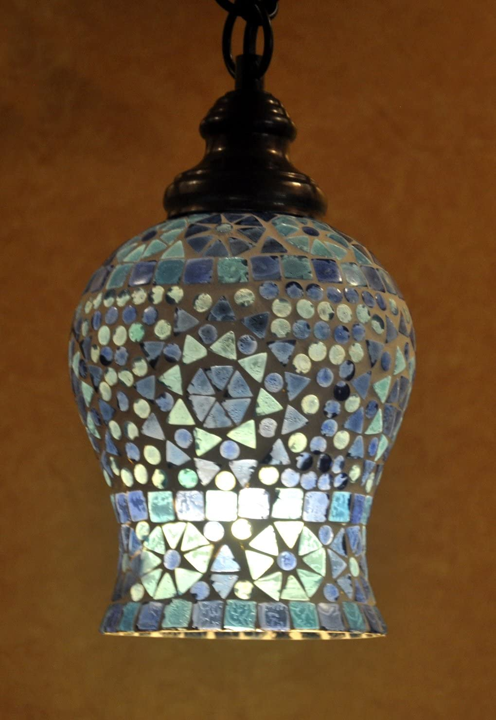 Lalhaveli Vintage Home Decorative Glass Ceiling Lamp Shade Pendant Hanging Light