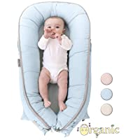 Organic Newborn Lounger | Water-Resistant Baby Nest | for Infants & Toddlers 0-12...