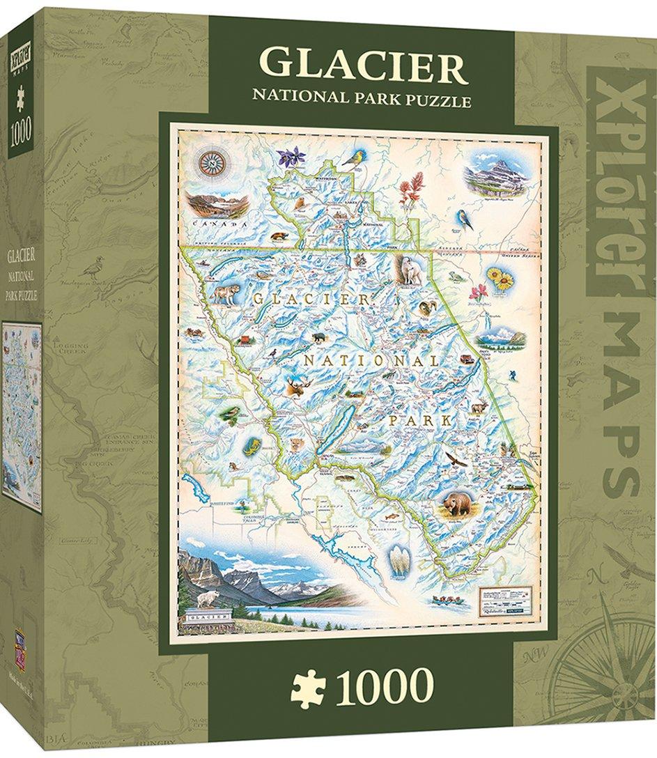 MasterPieces Xplorer Maps - Banff Canada 1000pc Puzzle Master Pieces 71709