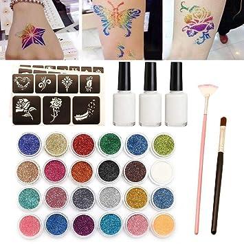 tackjoke Glitter Tattoo Kits Body Painting Tatuaje semipermanente ...