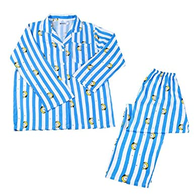 b4478f6b27 OOHPA KpopBTS Bangtan Boys Cartoon Version V SUGA Same Harajuku Pajamas  Long Sleeve Shirt Nighty Men