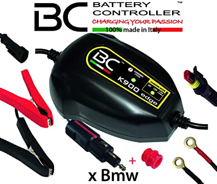 BC Battery Controller BC K900 EDGE, Cargador de baterías y Mantenedor Inteligente para Motos BMW con sistema CAN-Bus, y para todas las baterías 6V/12V ...