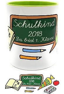 Emaille Becher Einschulung Campingbecher Fuchs Schultasche Name Wunschname eb207