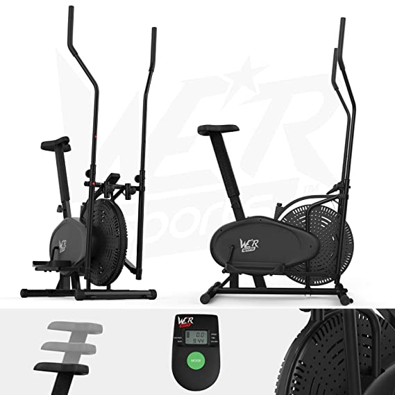 We R Sports We R Sports 2-IN-1 - Elíptica de fitness (compacto, bajo impacto), color negro: Amazon.es: Deportes y aire libre