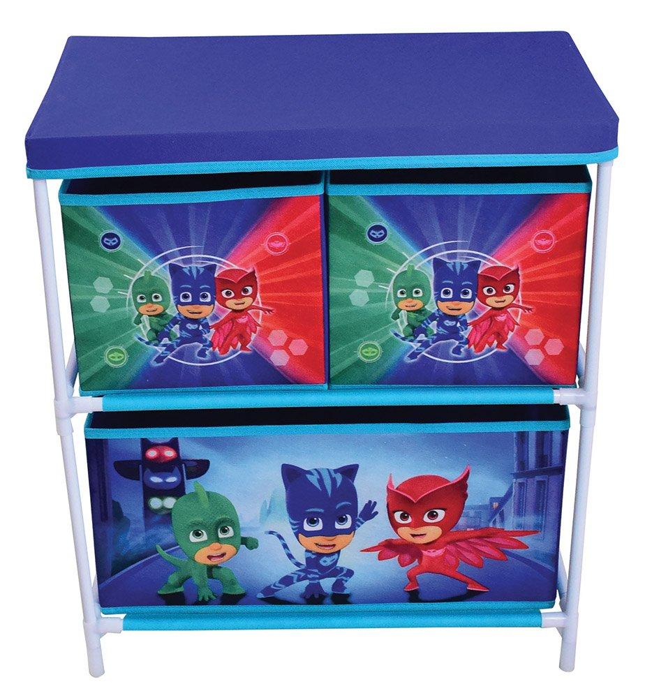 FUN HOUSE 712933 Etag/ère 3 casiers pour Enfant PP//Carton//Armature//Plastique 60,5 x 30,5 x 66 cm Bleu