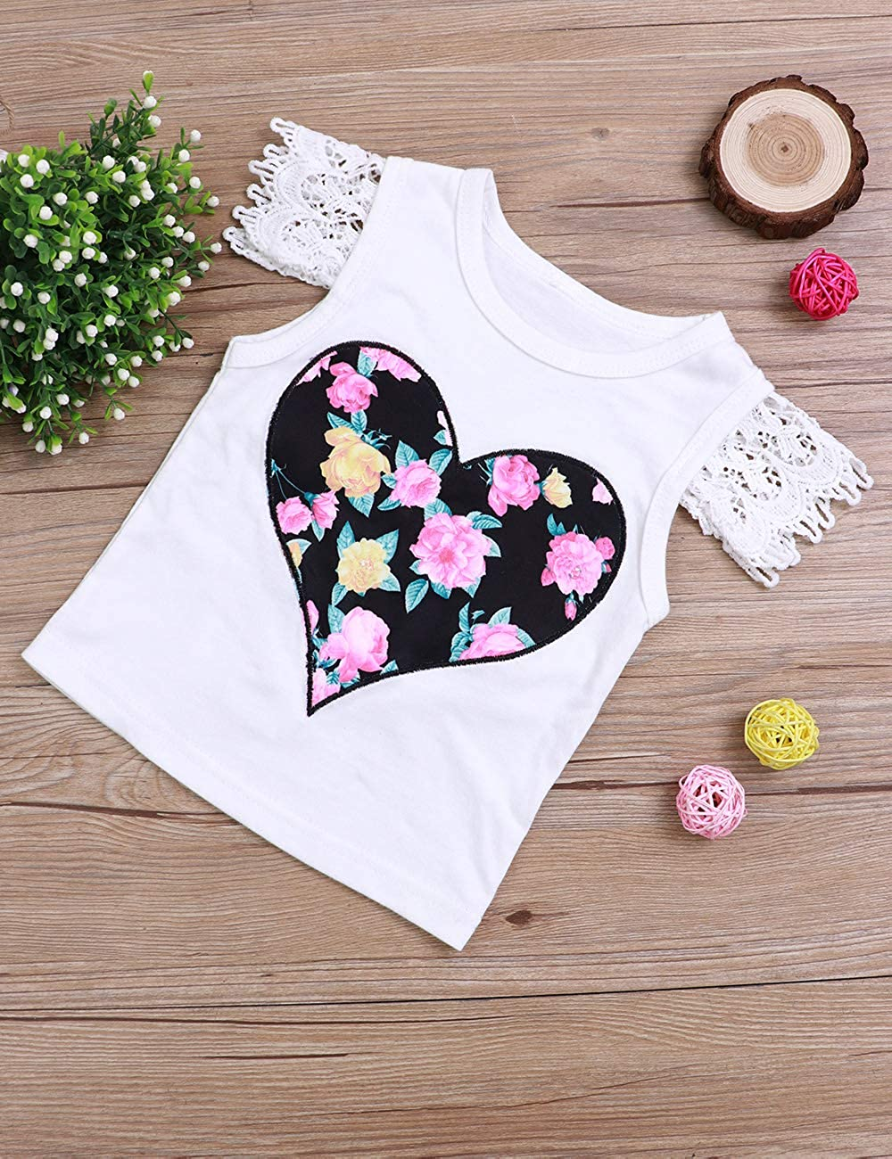 Newborn Baby Toddler Girl Clothes Printing Pants Shorts Romper Skirt Outfits Set