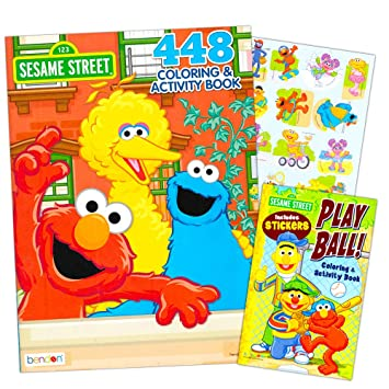Sesame Street Elmo Coloring Book Jumbo 400 Pages ...
