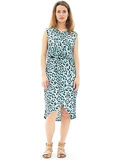 9f21e041cfcf Avanti Bottega Women's Casual Short Sleeve Knee Length Midi Dress at ...