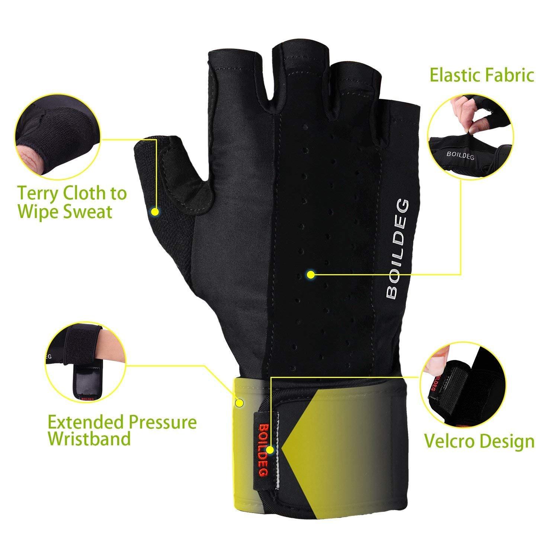 FItness Handschuhe Trainingshandschuhe,für Bodybuilding Crossfit,Damen&Herren (L)