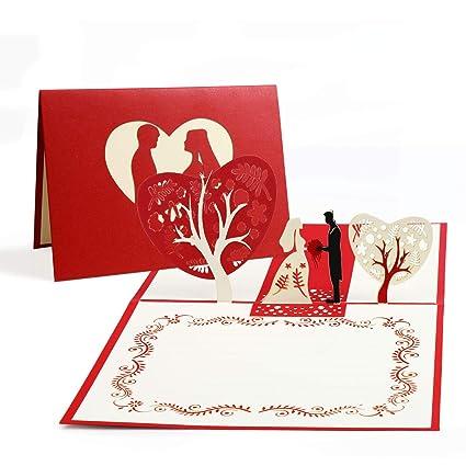 Tarjeta de felicitación Vegena en 3D, tarjeta de ...