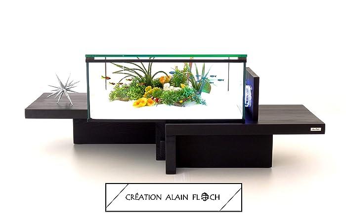 Aquarium Table Basse Equilibre Led Design Unique Alain