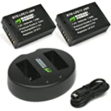 Wasabi Power Battery (2-Pack) and Dual Charger for Canon LP-E17 and Canon EOS 77D EOS 750D EOS 760D EOS 8000D EOS M3 EOS M5 EOS M6 EOS Rebel T6i EOS Rebel T6s EOS Rebel T7i Kiss X8i