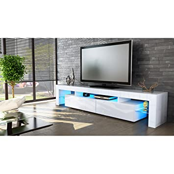 Helios 200 Modern Tv Stand For Living Room / Tv Entertainment Center With  LED Lighting System