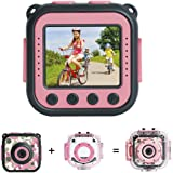 [NEW] DROGRACE Kids Camera Video Camera for Kids 1080P Camcorder Waterproof Action Cam Boys Girls Camera Toy Gift Built-in Game – Pink