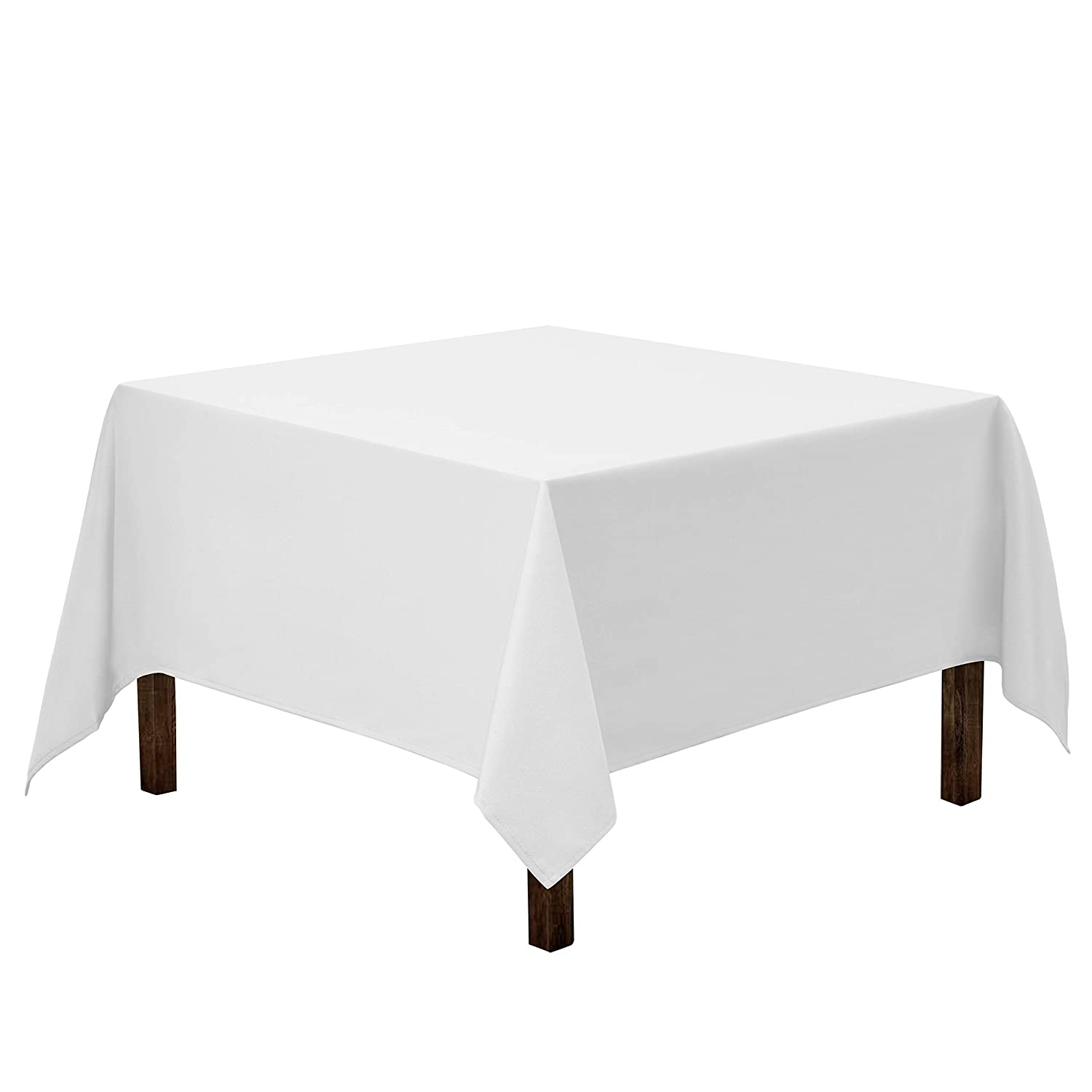 Gee Di Moda Square Tablecloth - 85 x 85 Inch - White Square Table Cloth for Square or Round Tables in Washable Polyester - Great for Buffet Table, Parties, Holiday Dinner, Wedding & More