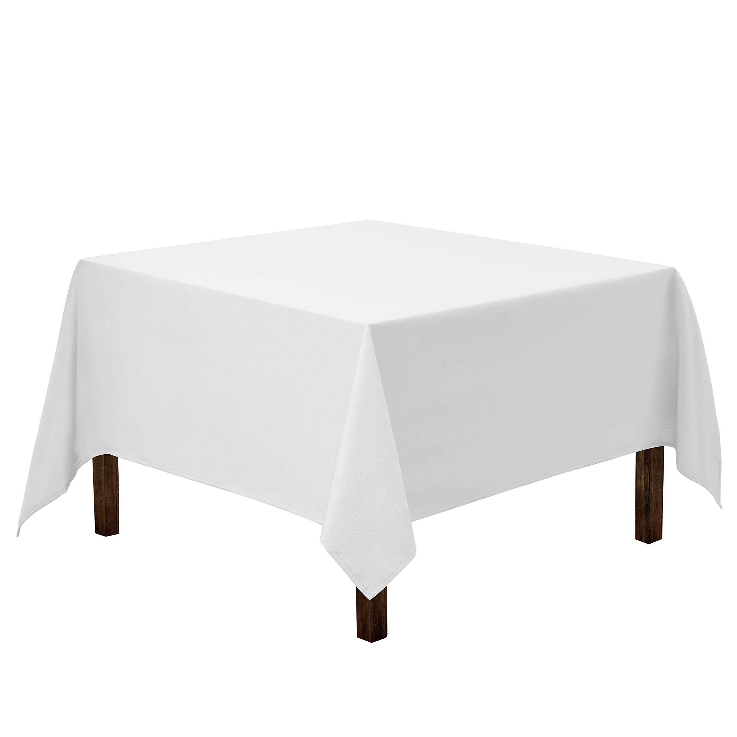 Gee Di Moda Square Tablecloth - 70 x 70 Inch - White Square Table Cloth for Square or Round Tables in Washable Polyester - Great for Buffet Table, Parties, Holiday Dinner, Wedding & More by Gee Di Moda