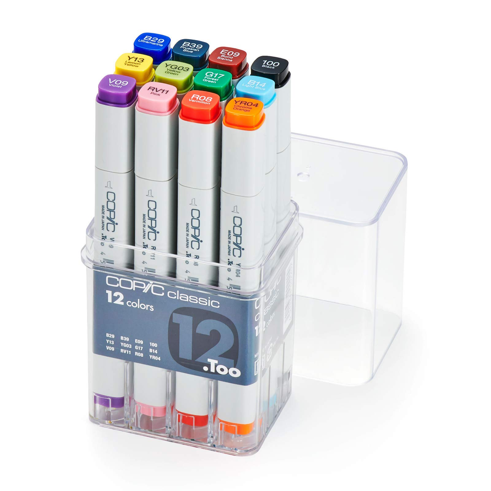 Copic Markers 12-Piece Basic Set