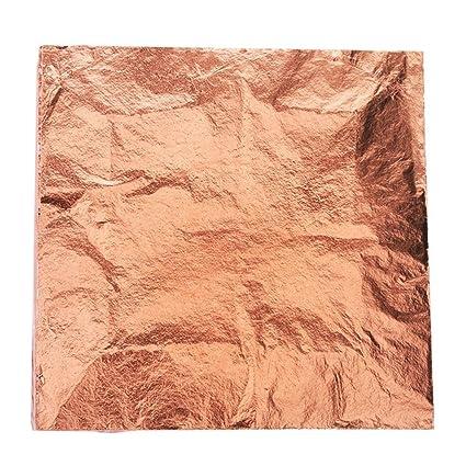 Bullet FACE 100 Sheets 5 5 by 5 5 inches Imitation Gold Leaf Foil Paper for  Arts, Gilding Crafting, Decoration DIY (Rose Gold)