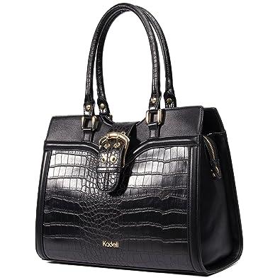 Amazon.com: Kadell Women's Leather Designer Handbags Shoulder Bag ...