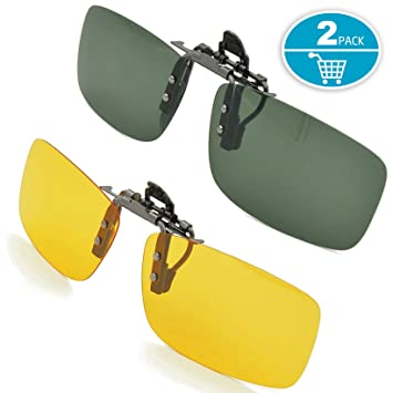 Splaks Samsung Galaxy S3 Mini i8190 Gafas de Sol, Unisex polarizadas sin Marco Rectangular Lente Flip Up Clip On Prescription Gafas de Sol Soporte ...