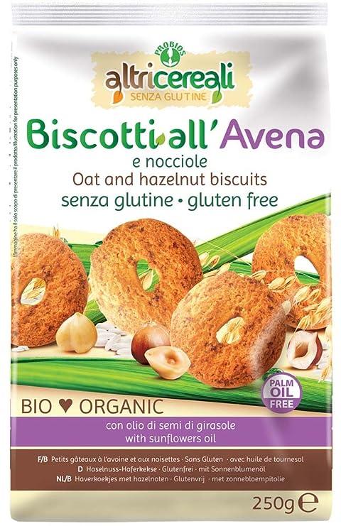 AltriCereali avena Galletas Y Avellanas Orgánica Sin Gluten ...