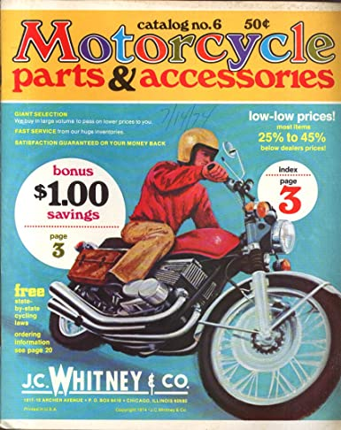 J C Whitney Motorcycle Parts Accessories Catalog 6 1974 At