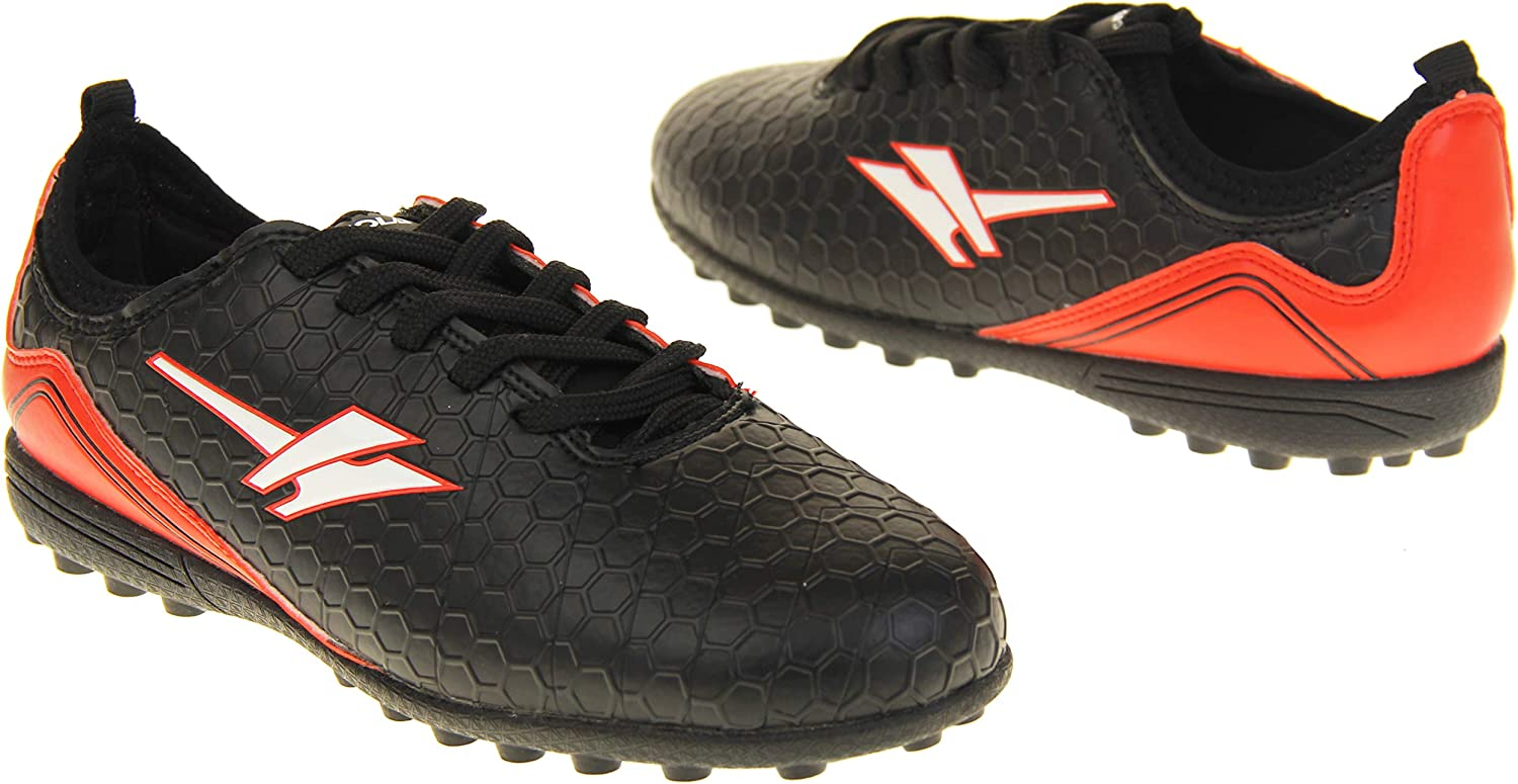 Boys Gola Astro Turf Kids Sports Lace Up Shoes Football Trainers Black /& Red 5 UK 38 EU