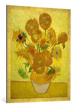 Amazonde Gerahmtes Bild Von Vincent Van Gogh Sonnenblumen