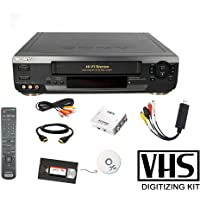 Sony VCR VHS Transfer Bundle w/ Remote, USB Adapter, HDMI Converter