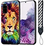 Sad Lion Samsung Galaxy S20 Plus Case Customized Pattern Black TPU PC Soft Edge Phone Case for Samsung Galaxy S20 Plus