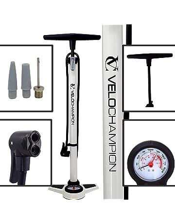 VeloChampion Bomba Pro De Bicicleta Profesional De Bastidor/Pie con Manómetro - La Mejor High