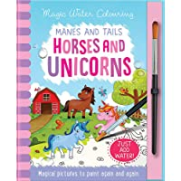 Manes and Tails Horses and Unicorns - Magic Water Colouring