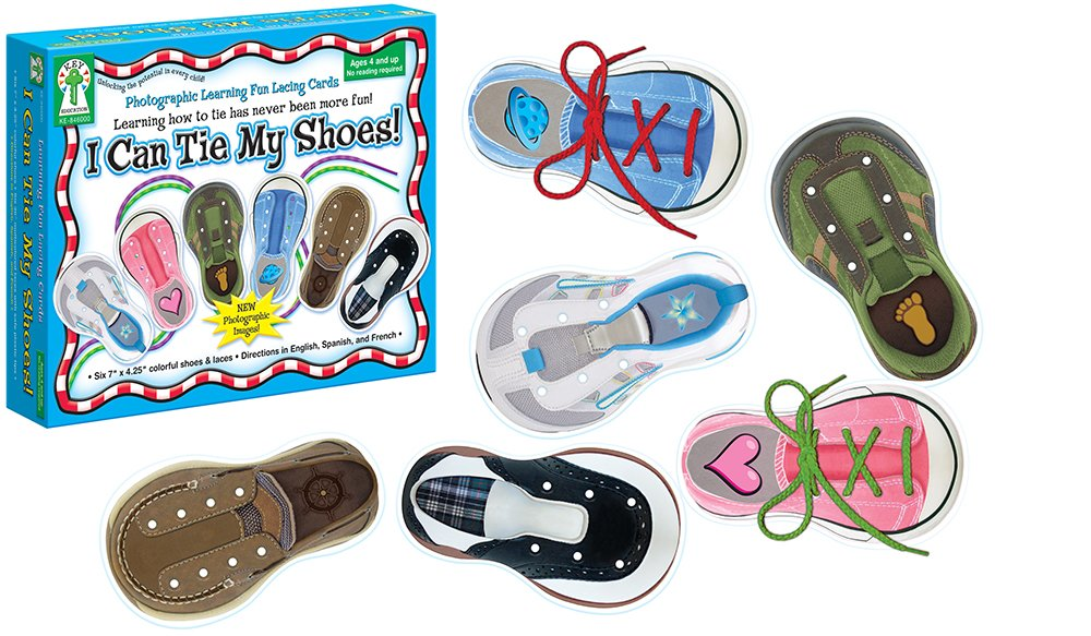 amazoncom carson dellosa key education i can tie my shoes lacing cards 846000 toy office products