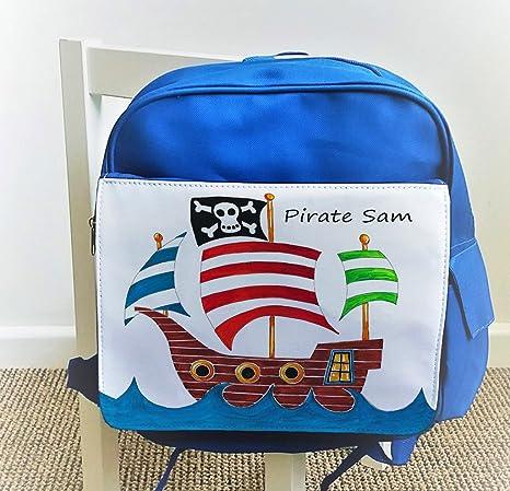 Niño Mochila, Kids mochila, bolsa personalizada, Diseño de barco pirata