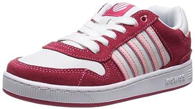 K-Swiss Jackson PS Tennis Shoe (Little Kid),Raspberry/White/