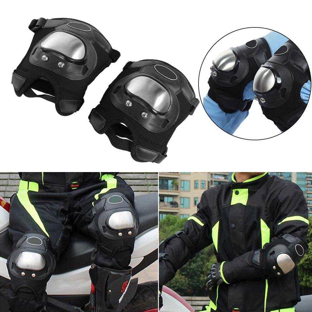 Protecciones de Rodilleras Negro 2 Piezas Almohadillas para Rodilla Braces Protective Gear Adultos Almohadillas para Rodilla Shin Guard Set de Armadura Protectora