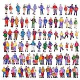 Evemodel 100 Figuren stehende Figuren Modellbahn Spur H0 1:87