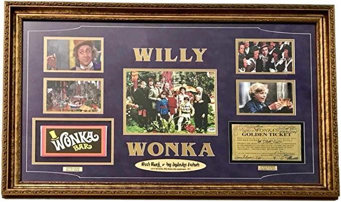 Custom Made Gene Wilder Wonka Style Bar and Golden Ticket
